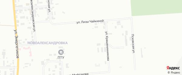 Улица Тимирязева на карте Уфы с номерами домов