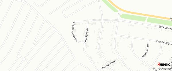 Переулок Тукмак на карте Ишимбая с номерами домов