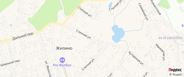 Степная улица на карте деревни Жилино с номерами домов
