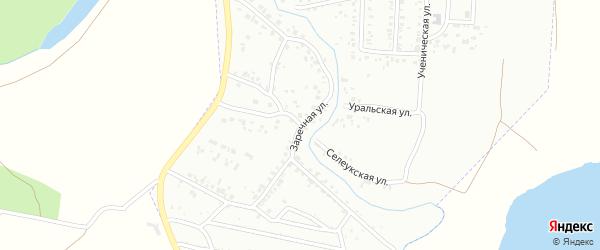 Заречная улица на карте Стерлитамака с номерами домов