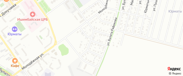 Улица Н.Черных на карте Ишимбая с номерами домов