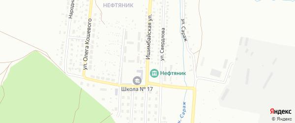 Ишимбайская улица на карте Ишимбая с номерами домов