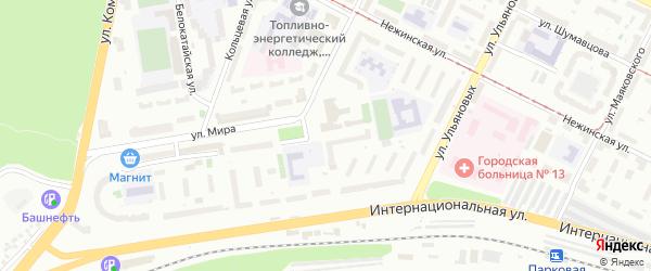 Северодвинская улица на карте Уфы с номерами домов