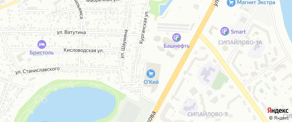 Косогорная улица на карте Уфы с номерами домов