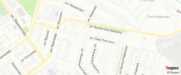 Улица Толстого на карте Ишимбая с номерами домов