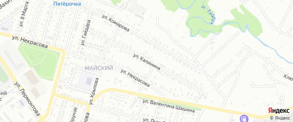 Улица Калинина на карте Ишимбая с номерами домов