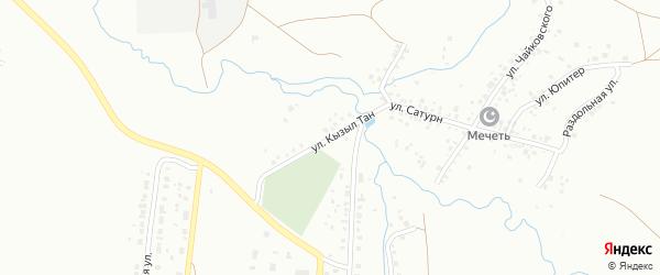 Улица Кызыл-Тан на карте Ишимбая с номерами домов