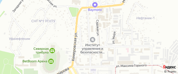 Улица Губкина на карте Уфы с номерами домов