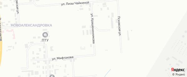 Улица Крашенинникова на карте Уфы с номерами домов