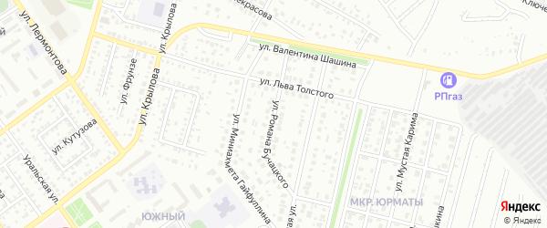Улица Р.Бучацкого на карте Ишимбая с номерами домов