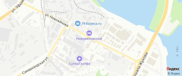 Улица Новоженова на карте Уфы с номерами домов