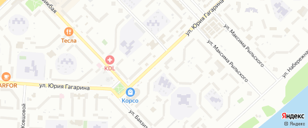 Улица Юрия Гагарина на карте Уфы с номерами домов