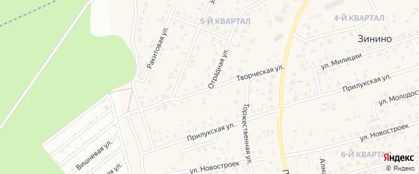Творческая улица на карте села Нагаево с номерами домов