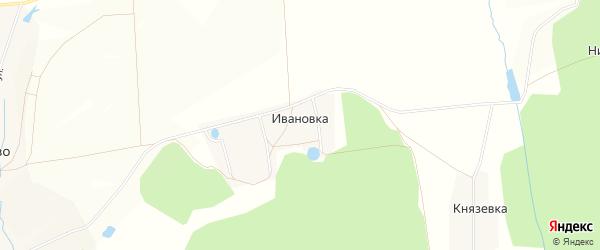 Карта деревни Ивановки (Батыровский с/с) в Башкортостане с улицами и номерами домов
