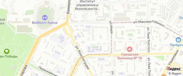 10-й квартал на карте поселка Некрасово с номерами домов