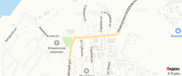 Садовая улица на карте Уфы с номерами домов