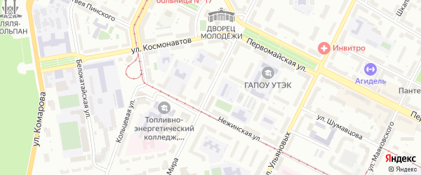 Улица Мира на карте Уфы с номерами домов