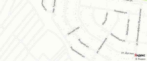 Летний переулок на карте Ишимбая с номерами домов
