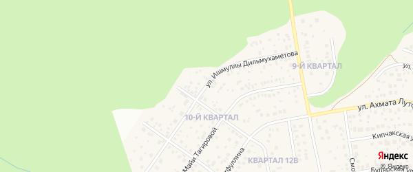Улица Ишмуллы Дильмухаметова на карте села Нагаево с номерами домов