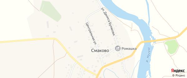 Центральная улица на карте деревни Смаково с номерами домов