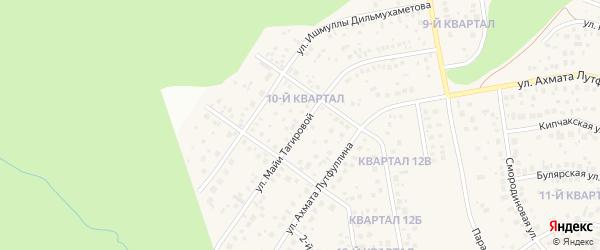 Улица Майи Тагировой на карте села Нагаево с номерами домов