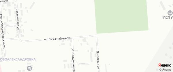 Улица Лизы Чайкиной на карте Уфы с номерами домов