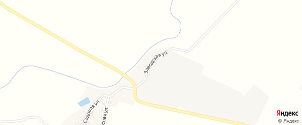 Заводская улица на карте села Большого Куганака с номерами домов