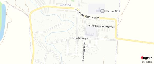 Российский переулок на карте Стерлитамака с номерами домов