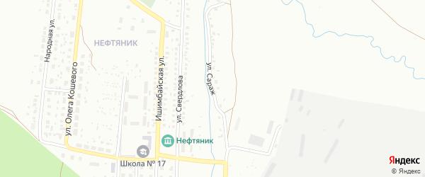 Улица Сараж на карте Ишимбая с номерами домов