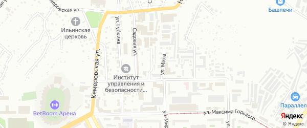 Барабинская улица на карте Уфы с номерами домов