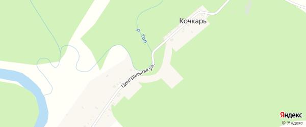 Центральная улица на карте хутора Кочкаря с номерами домов