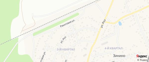 Улица Роз на карте села Нагаево с номерами домов