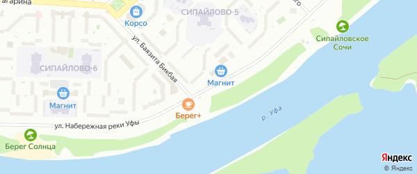Улица Набережная реки Уфы на карте Уфы с номерами домов