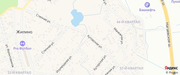 Хуторская улица на карте деревни Жилино с номерами домов