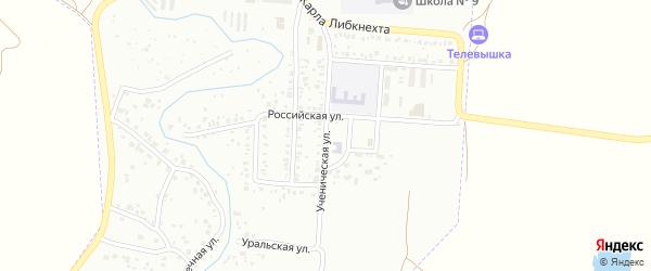 Ученическая улица на карте Стерлитамака с номерами домов