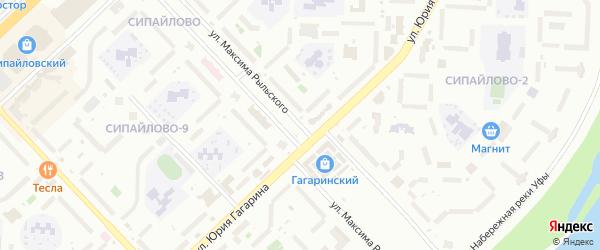 Улица Максима Рыльского на карте Уфы с номерами домов