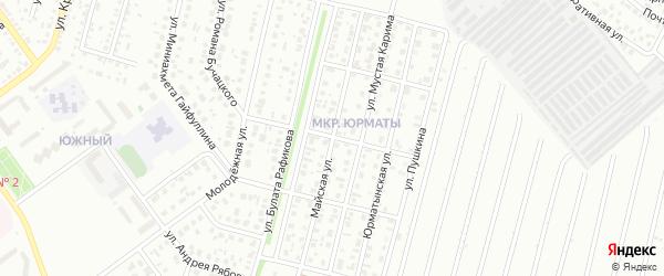 Майская улица на карте Ишимбая с номерами домов