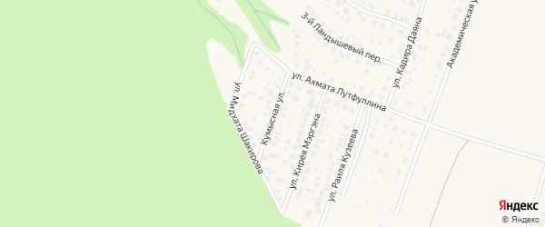 Кумысная улица на карте села Нагаево с номерами домов