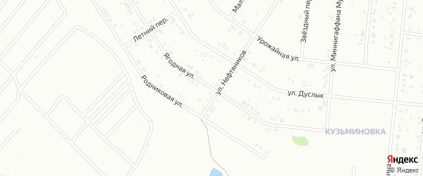 Ягодная улица на карте Ишимбая с номерами домов