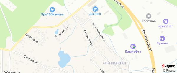 Семейная улица на карте деревни Жилино с номерами домов