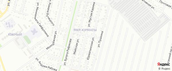 Улица Мустая Карима на карте Ишимбая с номерами домов