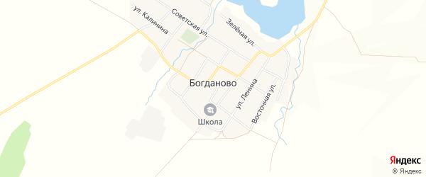 Карта села Богданово в Башкортостане с улицами и номерами домов