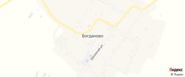 Улица Калинина на карте села Богданово с номерами домов