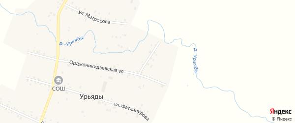 Партизанская улица на карте деревни Урьяды с номерами домов