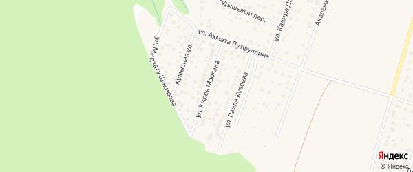 Улица Кирея Мэргэна на карте села Нагаево с номерами домов