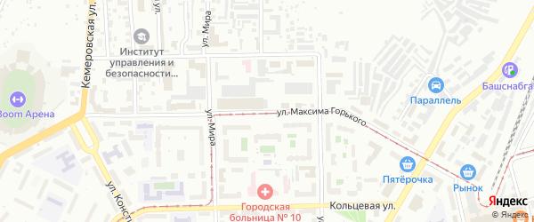 Улица Максима Горького на карте Уфы с номерами домов