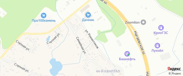 Улица Романтиков на карте деревни Жилино с номерами домов
