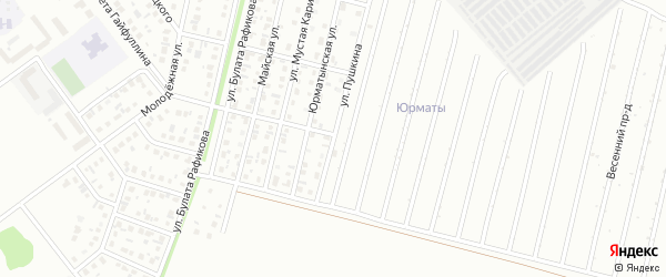 Улица Пушкина на карте Ишимбая с номерами домов