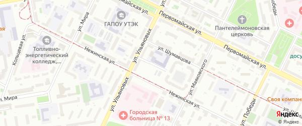 Улица Спартака на карте Уфы с номерами домов