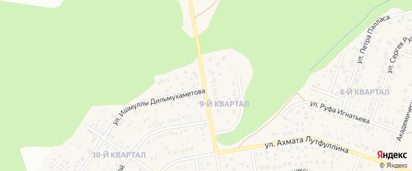 Парадная улица на карте деревни Зинино с номерами домов